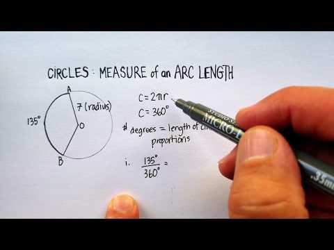 Circles: Measure of an Arc Length