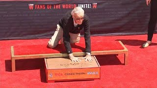 Stan Lee Adds Handprints To Graumans Chinese Theater Concrete In Ceremony