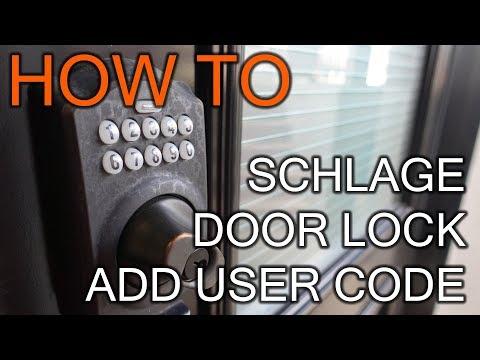 How to Add User Code on Schlage Door Lock