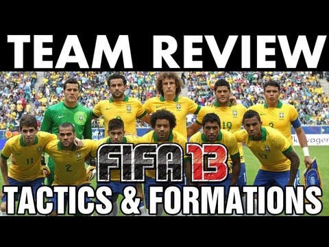 FIFA 13 | Team Review | Brazil National Team Tactics / Formation (H2H Season) w/ Gameplay