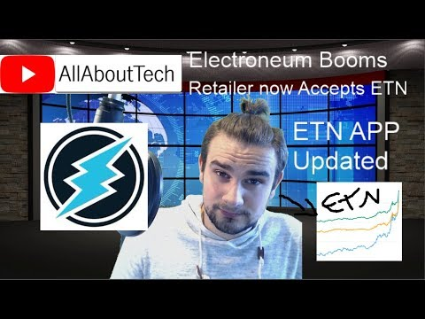 Electroneum Booms + Retailer now accepts ETN + App updated + giveaway results!