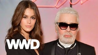 Watch Kaia Gerber and Karl Lagerfeld Talk About Designing  Their Capsule Together