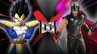 Vegeta VS Thor (DBZ VS Marvel) | DBX!
