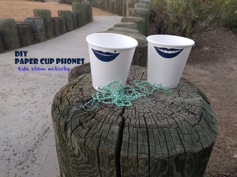 Paper cup telephone (kid's DIY crafts)