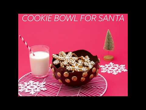 How to Make a Cookie Bowl For Santa