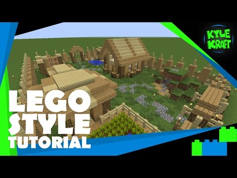Minecraft | LEGO Style Tutorial | 29x22 Survival Base