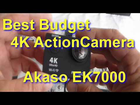 AKASO EK7000 4K Action Camera Unboxed, how to use with LOADS of Test clips