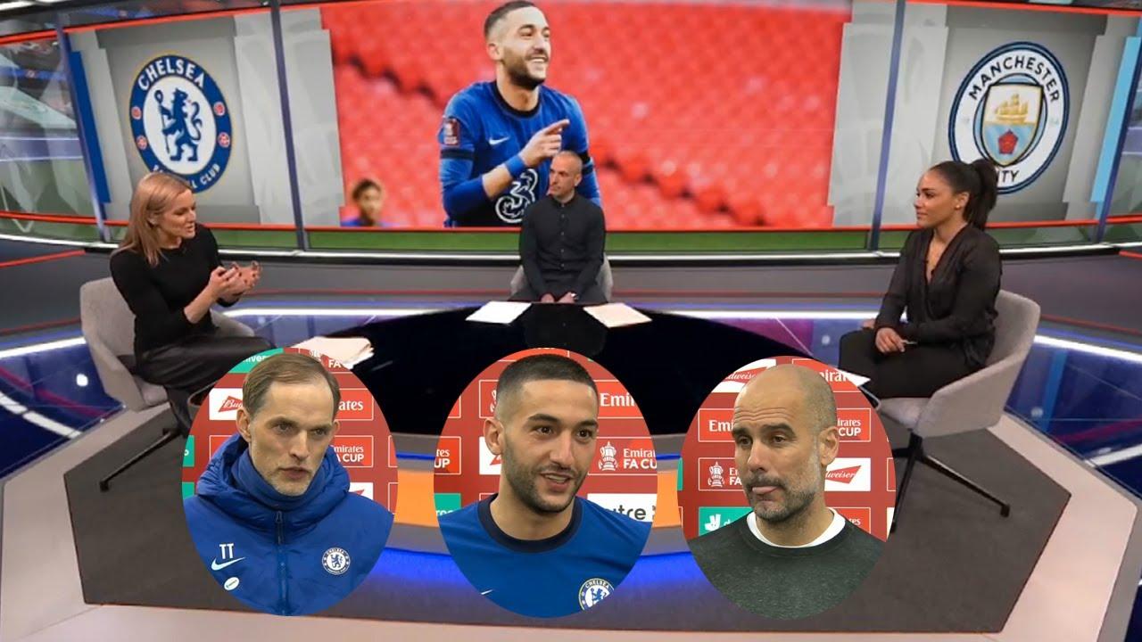 MOTD Chelsea vs Man City 1-0 Hakim Ziyech Sent Chelsea To The FA Cup Final🔥 Tuchel & Pep Reaction