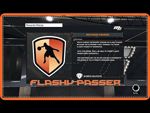 NBA 2K15 - How To Get Flashy Passer Badge Tutorial!!