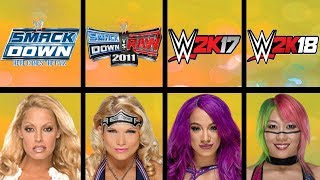 Highest Rated Women Wrestlers Ever in WWE Games (Smackdown HCTP - WWE 2K18)