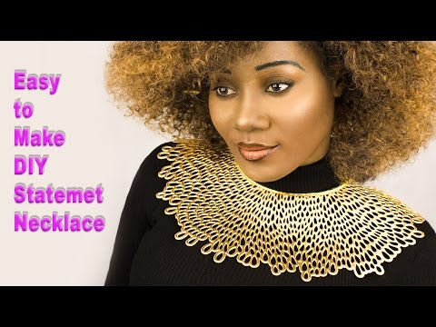 ✅  My First easy to make DIY Statement Necklace For under $5.00.