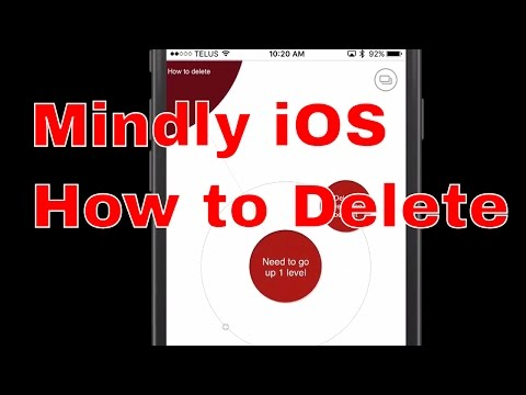 Mindly iOS - How to delete nodes, topics, and maps