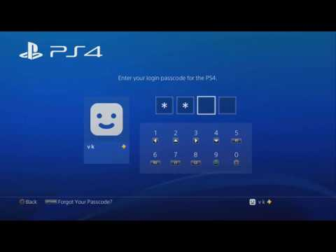 How to Set Up a Passcode Verification Login settings on PS4 or PS Pro?