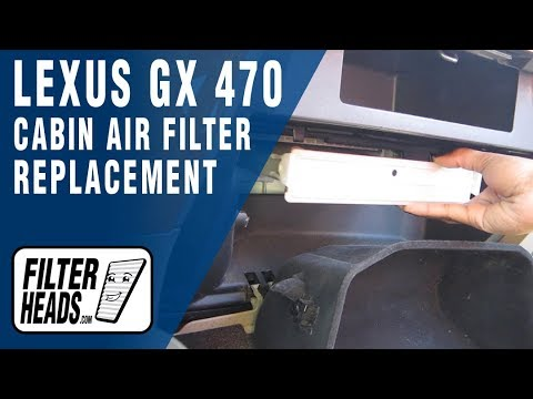 How to Replace Cabin Air Filter Lexus GX 470