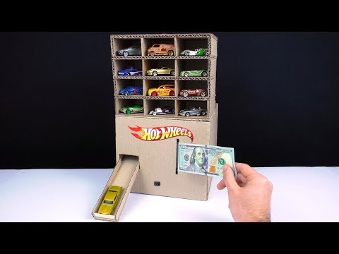 How To Make Hot Wheels Car Vending Machine THAT REQUIRES MONEY!