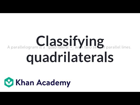 Quadrilaterals: classifying shapes | Geometry | 5th grade | Khan Academy