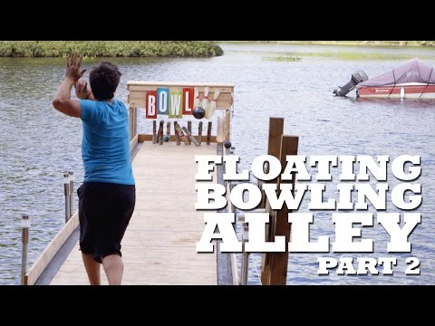 FLOATING Bowling Alley - Part 2 - Gutters, Ball Return & Lounge