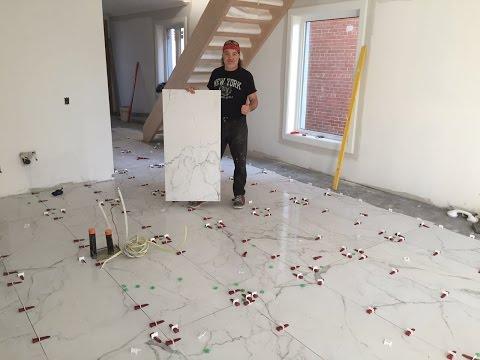 Large Porcelain Tile installation in Toronto,  2' x 4' or 24