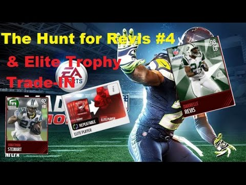 Madden Mobile: The Hunt For Revis #4 With Elite Trophy Trade in! (350k pro pack opening)