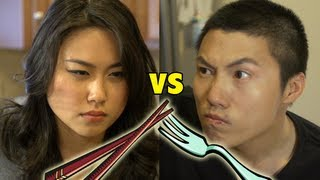 Chopsticks vs. Forks [DISH BATTLE]