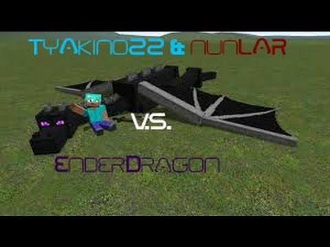 Minecraft enderdragon 1.5 battle