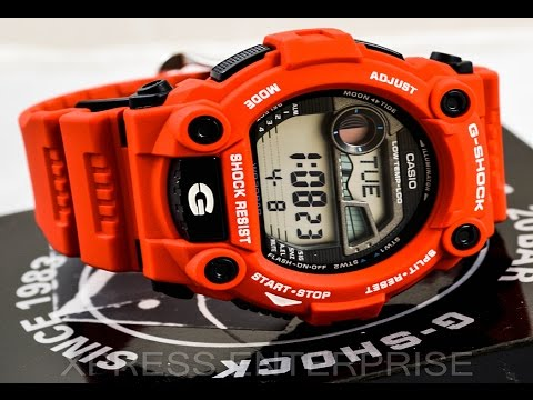 Casio GSHOCK G7900A-4 REVIEW   How To Set Time   LIGHT DISPLAY