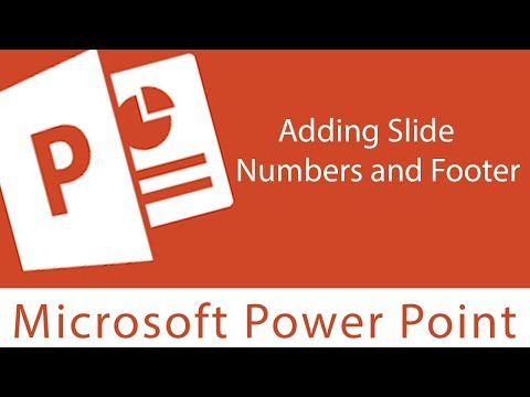 Powerpoint : Adding Slide Numbers and Footer