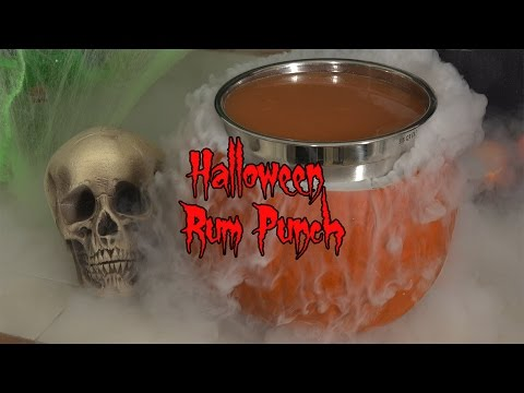 Halloween Rum Party Punch (plus fun with dry ice!)