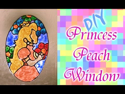 How To Make A Princess Peach Faux Stained Glass Window