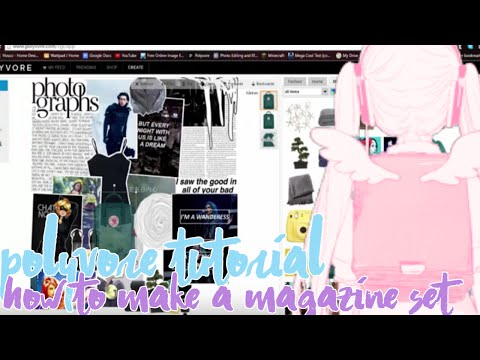 「Polyvore Tutorial」→ How to Make a Magazine Set♡