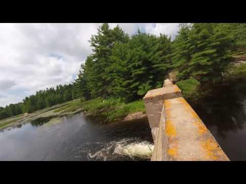 Nine Mile lake dam near Parry Sound Ontario