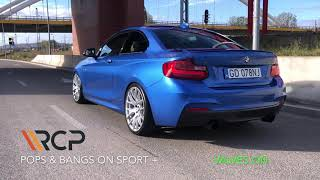 BMW M240i   RCP Exhausts   Turbo-Back Exhaust + valves