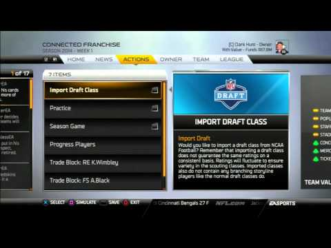 Madden 25 - How To Import NCAA Football 14 Draft Classes