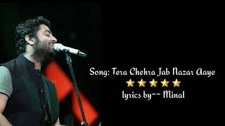 Tere chehra - Arijit sing - Sanam Teri kasam (2016) - Lyrical video with Translation