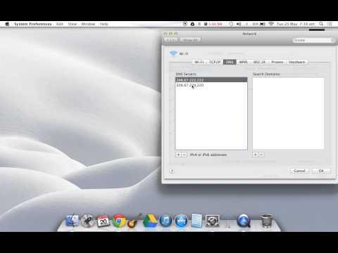 changing dns server on mac