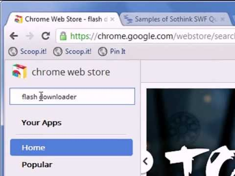 How to Download Flash SWF under Chrome?