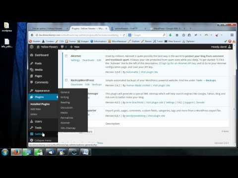 Complete WordPress Video Tutorial - 24 - Plugins - Google XML Sitemaps Plugin