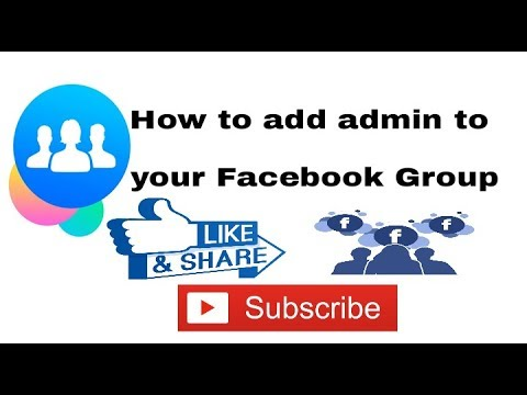 How to add admin to your Facebook Group