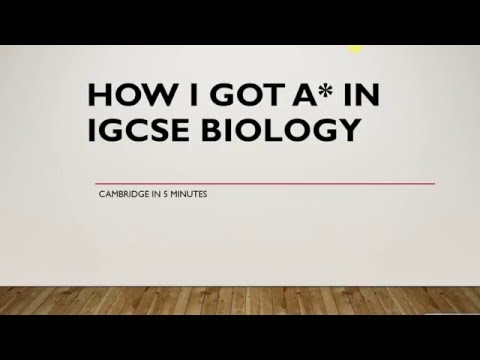How to achieve A* in IGCSE biology