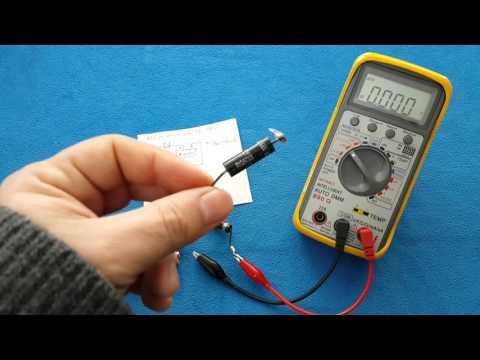How to test a microwave oven diode high voltage  CL01-12 / como probar un diodo de microondas HV