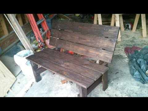 How to build an outdoor bench for under $50
