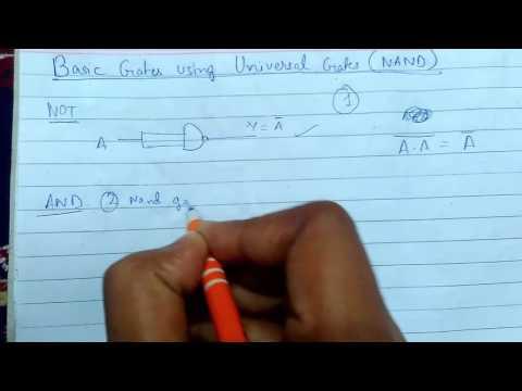 Basic Gates Using Universal Gates(NAND)