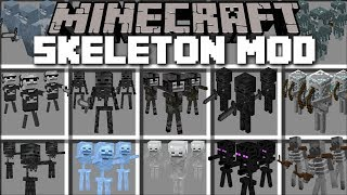 Minecraft SKELETON ARMY MOD / FIGHT OFF HOARDS OF SKELETON BOSSES AND SURVIVE!! Minecraft