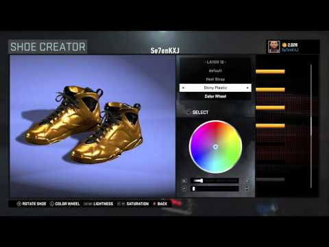 NBA 2k16 How to create Golden Shoes