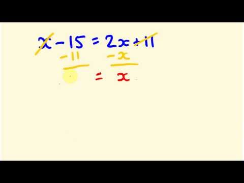 Algebra trick - solve equations instantly for variables on each side of the equation