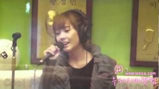 [Fancam] 101101 Jessica SNSD - Forever @Kiss the radio(Sukira)
