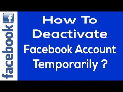 How to Deactivate Your Facebook Account Temporarily 2017 | Deactivate Facebook Account Temporarily