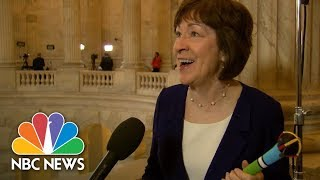 Senator Susan Collins Used A Talking Stick During Budget Negotiations | NBC News