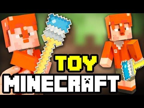 DIY Minecraft Cardboard Figure   Craft Ideas for Kids on Box Yourself