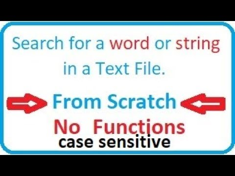 C program Tutorial -  Search a word or string in a text file or doc case sensitive